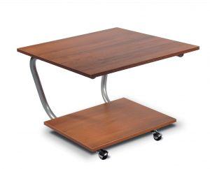 Журнальный столик хром/орех Дуэт-11
