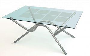 Журнальный столик хром Дуэт-8