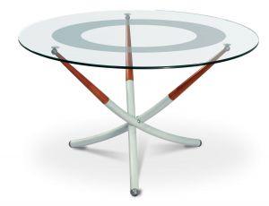 Журнальный столик алюминий/вишня Дуэт-4Н
