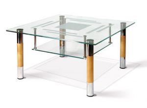 Журнальный столик хром/бук Робер-8МДП