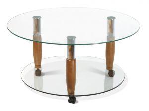 Журнальный столик орех Квартет-10