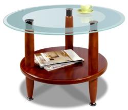 Журнальный столик  Квартет 7М среднекоричневый