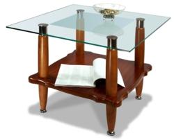 Журнальный столик  Квартет 8М среднекоричневый