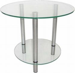 Журнальный столик Танго серебро/прозрачное