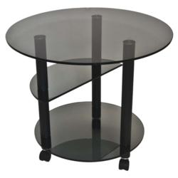 Журнальный столик Танго 2 черный/тонированное