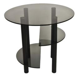 Журнальный столик Танго 3 черный/тонированное