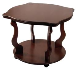 Журнальный столик Берже 4К (на колесах) среднекоричневый